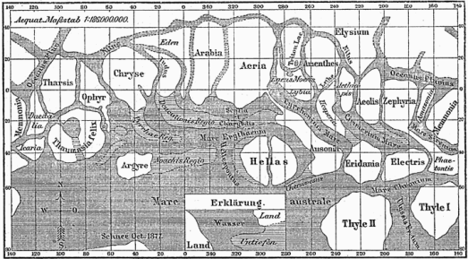 Karte_Mars_Schiaparelli_MKL1888